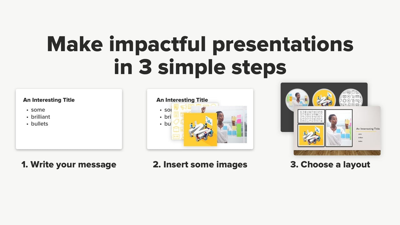 create presentations in minutes