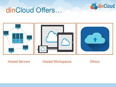 dinCloud offers hosted servers ans hosted workspaces